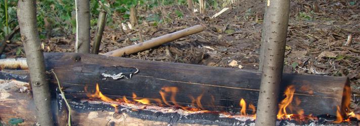Нодья - костер охотников